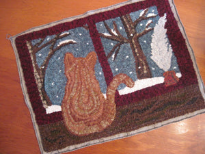 "Tesla's First Snow - 16"" x 22"" Rug Hooking Kit"