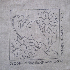 "Summer In Paris - 15"" x 15"" Rug Hooking Kit"