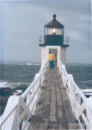"Storm at Marshall Point Light, Maine - 21.5"" x 25.5"" Rug Hooking Kit"