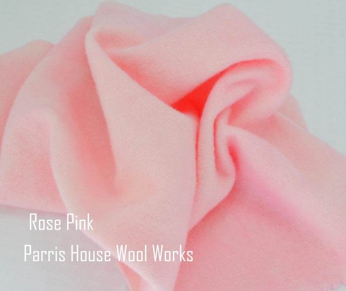 "Wool, Fat Quarter - ""Rose Pink"" - Hand Dyed Wool - Rug Hooking, Applique, Craft"