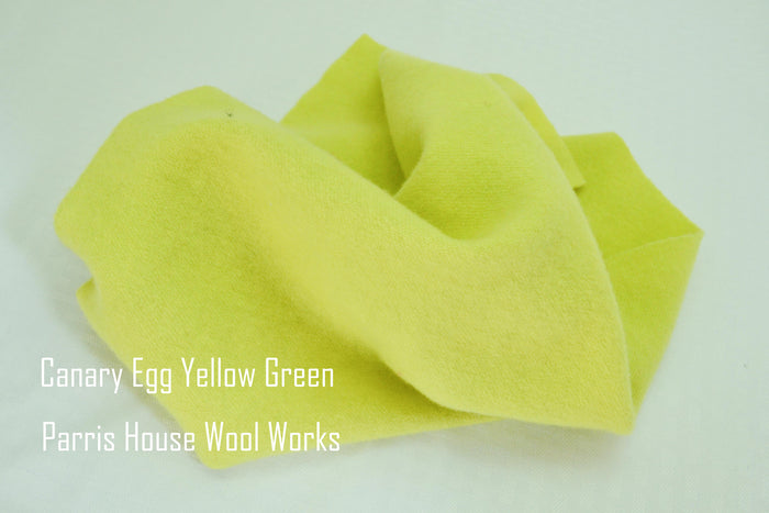 "Wool, Fat Quarter - ""Canary Egg Yellow"" - Hand Dyed Wool - Rug Hooking, Applique, Craft"