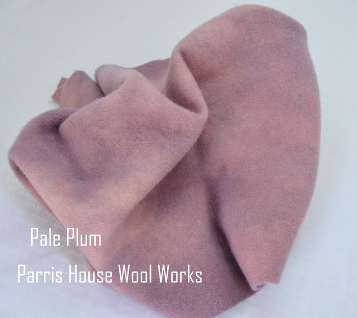 "Wool, Fat Quarter - ""Pale Plum"" - Hand Dyed Wool - Rug Hooking, Applique, Craft"