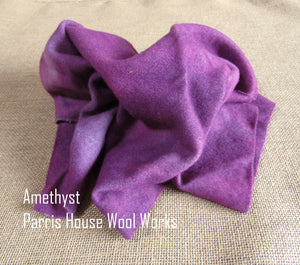 "Wool, Fat Quarter - ""Amethyst"" - Hand Dyed Wool - Rug Hooking, Applique, Craft"