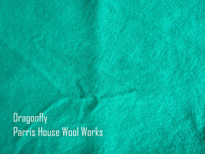 "Wool, Fat Quarter - ""Dragonfly"" - Hand Dyed Wool - Rug Hooking, Applique, Craft"