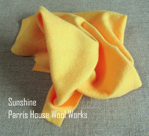 "Wool, Fat Quarter - ""Sunshine"" - Hand Dyed Wool - Rug Hooking, Applique, Craft"