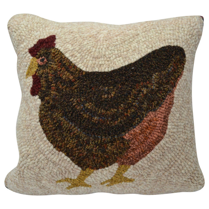 "Laying Hen *PATTERN ONLY* 12"" x 12""  Hooked Rug Pattern"