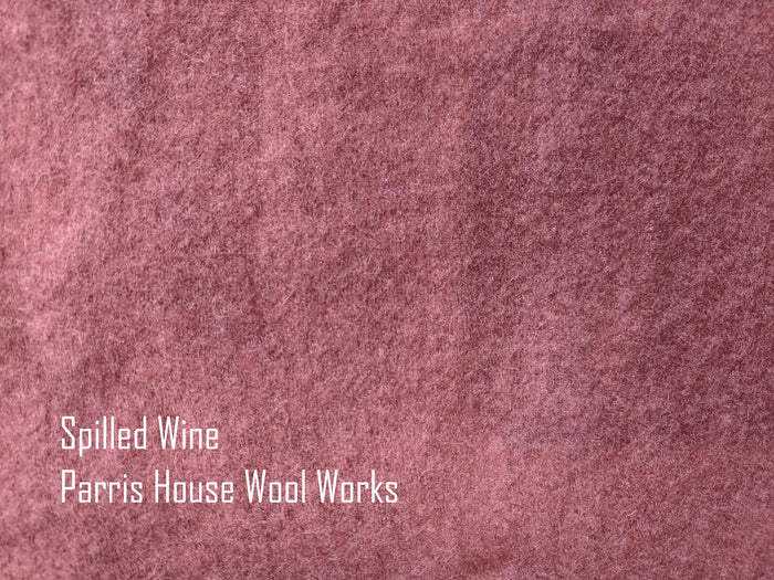 "Wool, Fat Quarter - ""Spilled Wine"" - Hand Dyed Wool - Rug Hooking, Applique, Craft"