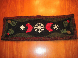 "Let Us Sing Winter"" *PATTERN ONLY* 10.5"" x 30""  Hooked Rug Pattern"