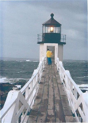 "Storm at Marshall Point Light, Maine *PATTERN ONLY* 21.5"" x 25.5""  Hooked Rug Pattern"