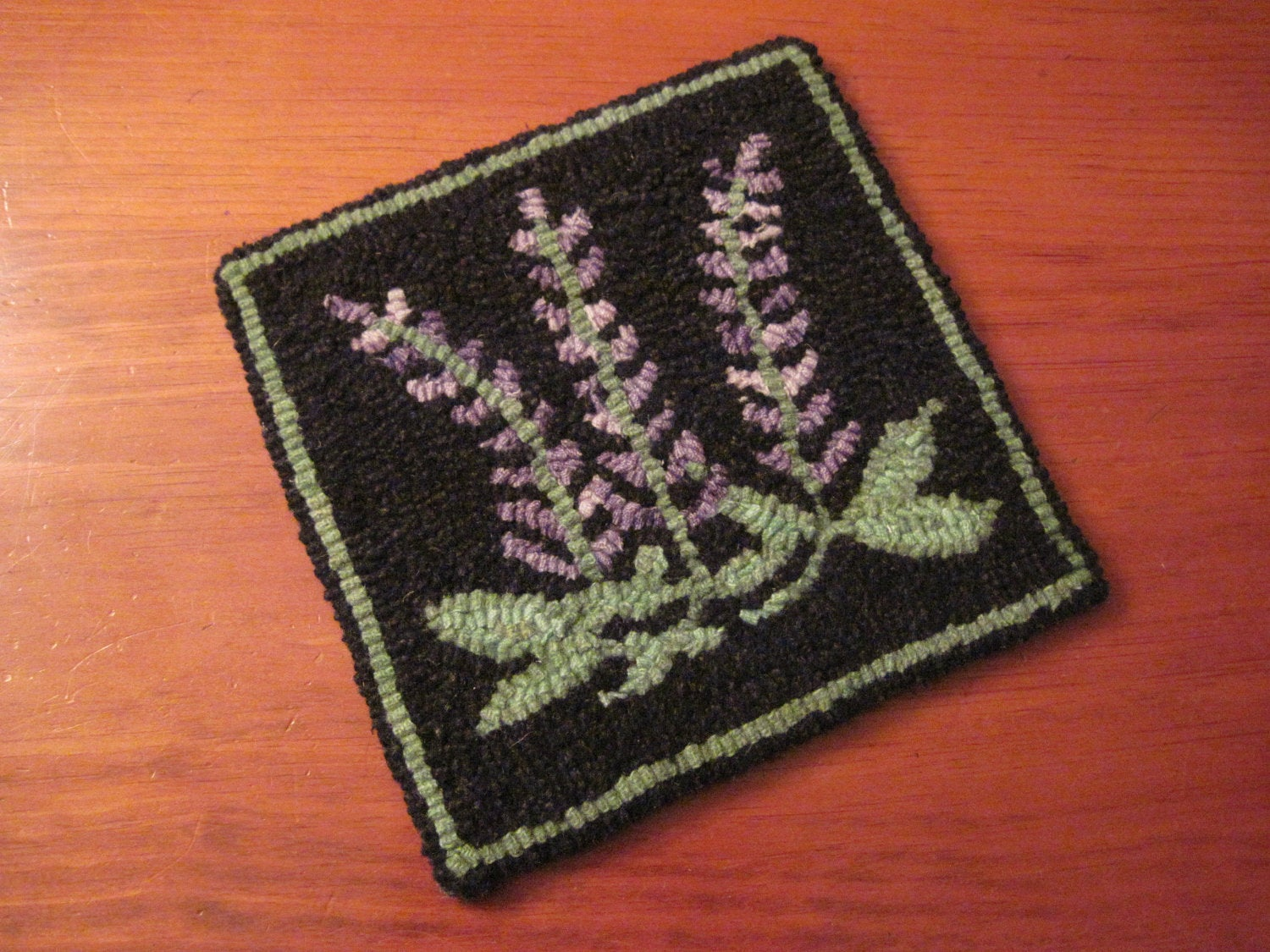 Rangeley Lupines Trivet Pattern Only 8 X 8 Hooked Rug Pattern Parris House Wool Works