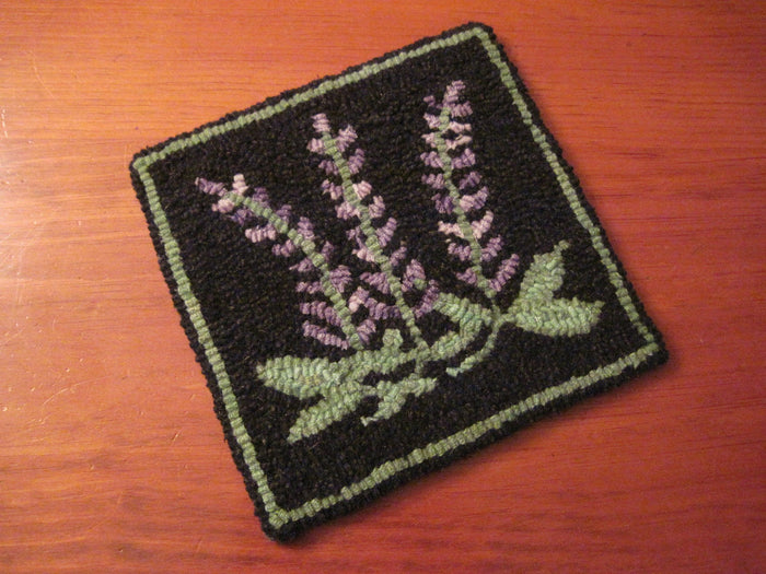 "Rangeley Lupines - Trivet *PATTERN ONLY* 8"" x 8""  Hooked Rug Pattern"