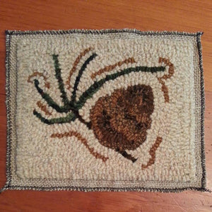 "Primitive Pine *PATTERN ONLY* 8"" x 6""  Hooked Rug Pattern"