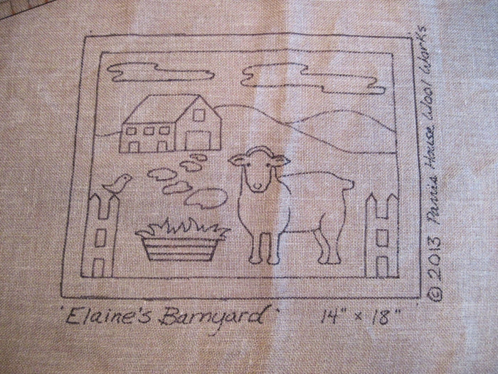 "Elaine's Barnyard *PATTERN ONLY* 14"" x 18""  Hooked Rug Pattern"