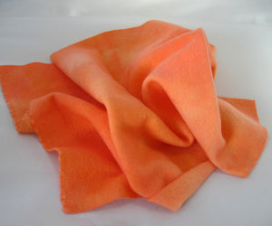 "Wool, Fat Quarter - ""Penobscot Peach"" - Hand Dyed Wool - Rug Hooking, Applique, Craft"