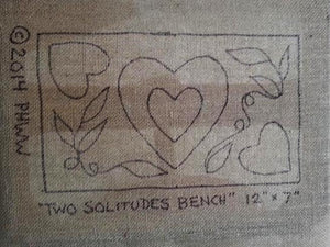"Two Solitudes - Hearts and Vines - *PATTERN ONLY* 7"" x 12""  Hooked Rug Pattern"