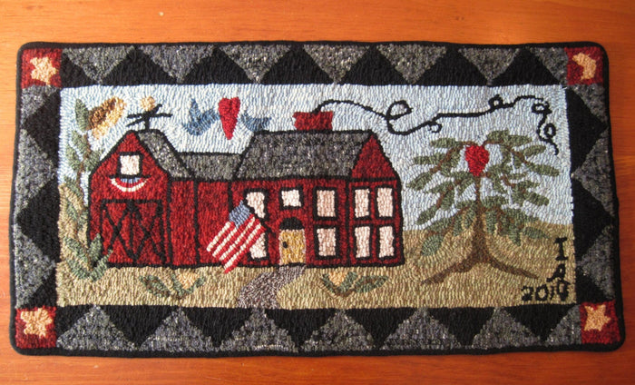 "Irene's Farmhouse *PATTERN ONLY* 14"" x 29""  Hooked Rug Pattern"