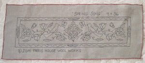 "Spring Song *PATTERN ONLY* 9"" x 36""  Hooked Rug Pattern"