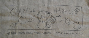 "Apple Harvest -  *PATTERN ONLY* 9"" x 27""  Hooked Rug Pattern"