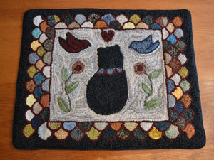 "Mr. Adams' Cat *PATTERN ONLY* 23"" x 28.5""  Hooked Rug Pattern"