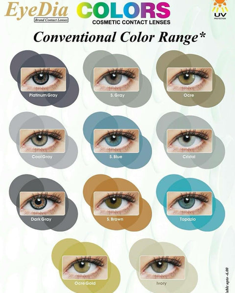 Eye Dia Conventional Colored Lenses