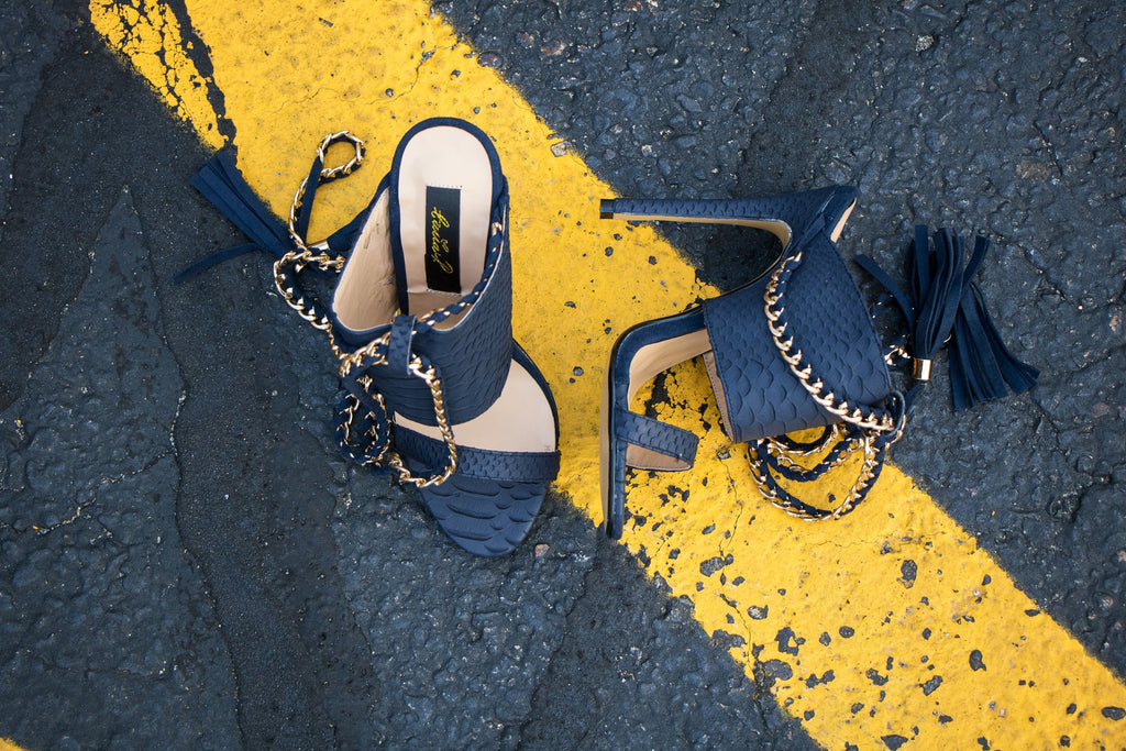 navy cold blooded zmeya sandals