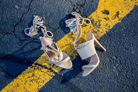 nude cold blooded zmeya sandal