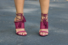 burgundy cold blooded zmeya sandal