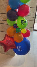 Load and play video in Gallery viewer, Fun and Beautiful Party Theme Balloon Swag! Local Orange County CA Delivery or Store Pick up