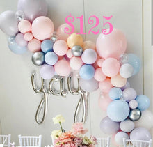 Load image into Gallery viewer, Fun and Beautiful Party Theme Balloon Swag! Local Orange County CA Delivery or Store Pick up