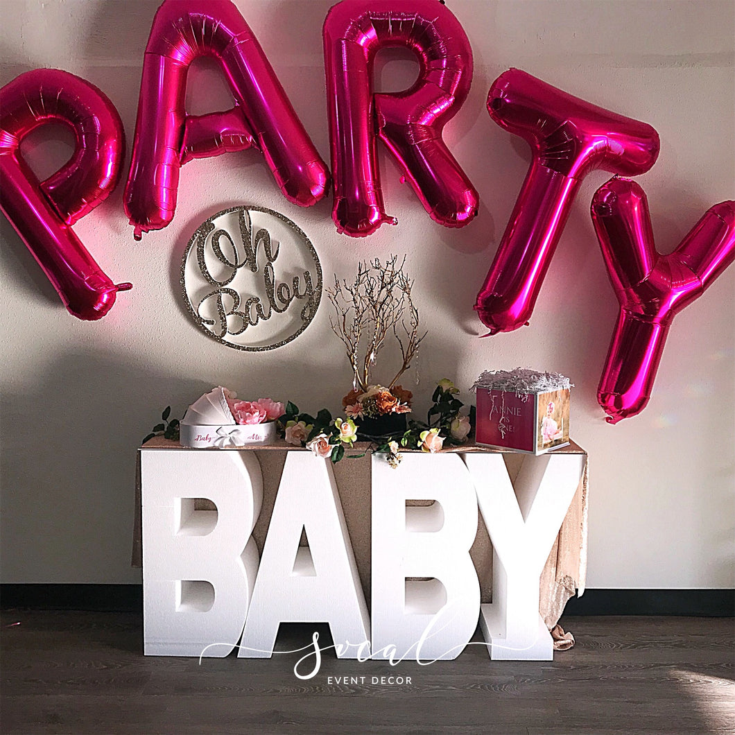 Baby Letters for Prop or Candy Dessert Table