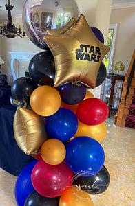 Fun and Beautiful Party Theme Balloon Swag! Local Orange County CA Delivery or Store Pick up