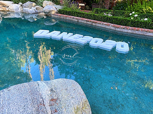 Pool Party Custom Float Decoration Floating Prop Giant Numbers Letters - Wedding, Birthday, Grad