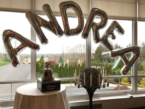 Saying or Name Balloon Letters Arch Delivered in Orange County California