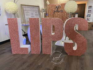 Glitter Large Freestanding Foam Letters Priced EACH for Prop or Candy Dessert Table Wedding, Graduation, Birthday