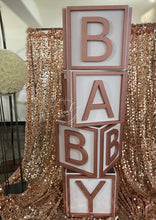 Load image into Gallery viewer, Huge Baby Blocks Prop! Photo shoot, candy buffet, baby shower!