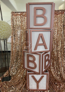 Huge Baby Blocks Prop! Photo shoot, candy buffet, baby shower!