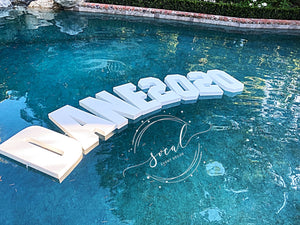 Pool Party Custom Float Decoration Floating Prop Giant Numbers or Letters for Wedding, Birthday, Graduation