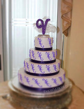Load image into Gallery viewer, Cake topper with custom silhouette! Any age, number, shape, 16, 15, Stiletto, Cinderella