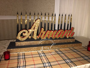 Sweet 16 Candelabra, Quince or Mitzvah Candlelighting Ceremony