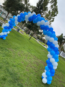 Triple Swirl or Rainbow Balloon Arch Delivered in Orange County California