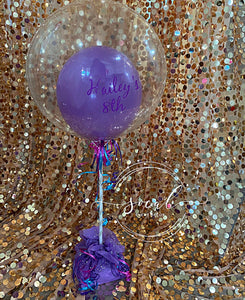 Custom Birthday Saying Balloon Centerpiece Arrangement! Local Orange County CA Delivery or Store Pick up