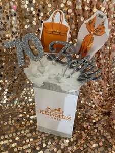 Shopping and Fashion Themed Centerpieces for Sweet 16, 21st, 30th, 40th, 50th Birthday Party