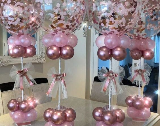 Huge Confetti Balloon Centerpiece Arrangement! Local Orange County CA Delivery or Store Pick up