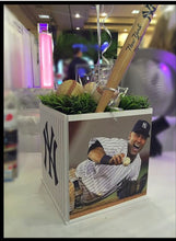 Load image into Gallery viewer, Sports Cube Picture Centerpieces Mitzvah, Birthday any team,any sport