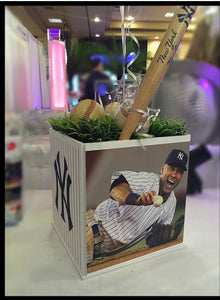 Sports Cube Picture Centerpieces Mitzvah, Birthday any team,any sport