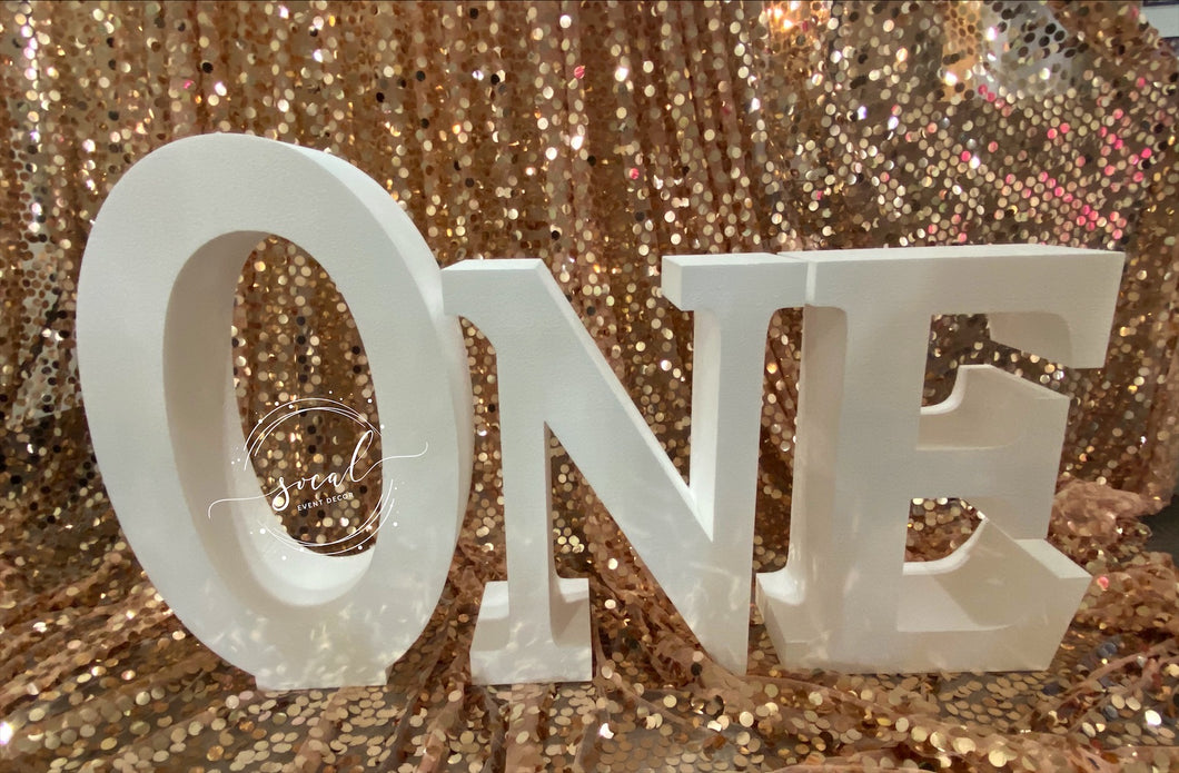 ONE Letters for Prop or Candy Dessert Table