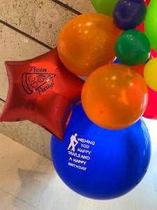 Add on Personalized Mylar balloons with any balloon delivery! Local Orange County CA Delivery