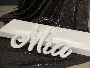 Unfinished Sweet 16 Candelabra, Candle Lighting Ceremony Name Board, Quince, Bat Mitzvah