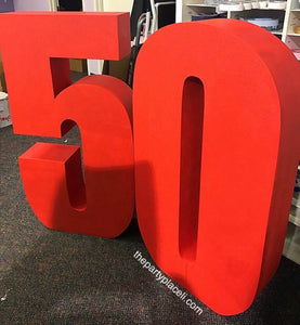 Huge Foam Numbers 16 18 21 30 40 50 freestanding number set prop for Birthday Parties or Anniversary