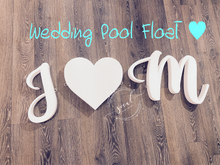 Load image into Gallery viewer, Pool float 3 Letter or symbol Pool Party Custom Float Wedding, Birthday, Grad
